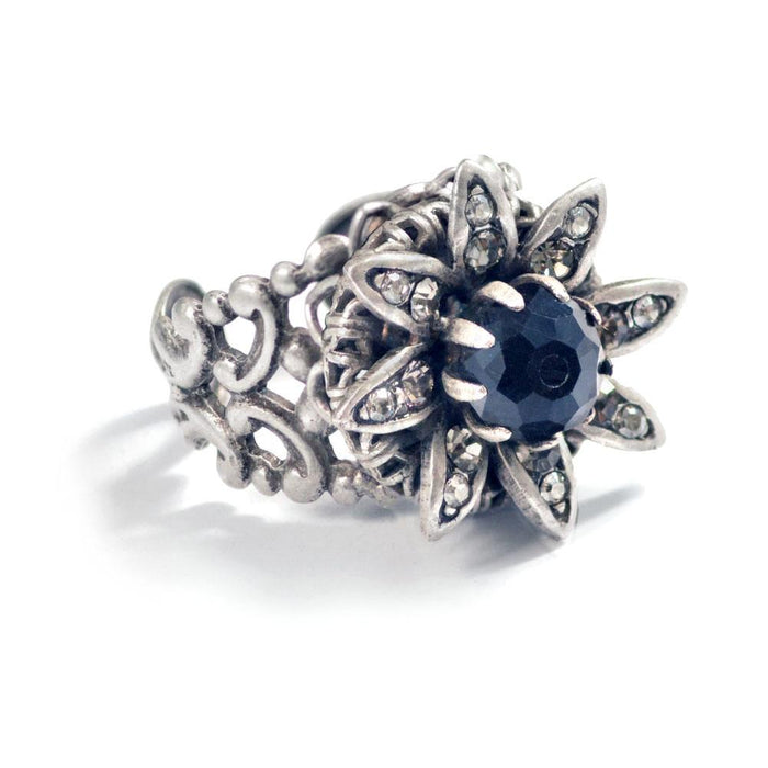 Silver Wild Flower Daisy Ring - Sweet Romance Wholesale