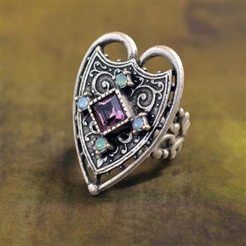 Renaissance Heart Ring - Sweet Romance Wholesale