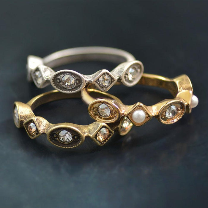 Set of 3 Vintage Stacking Rings - Sweet Romance Wholesale