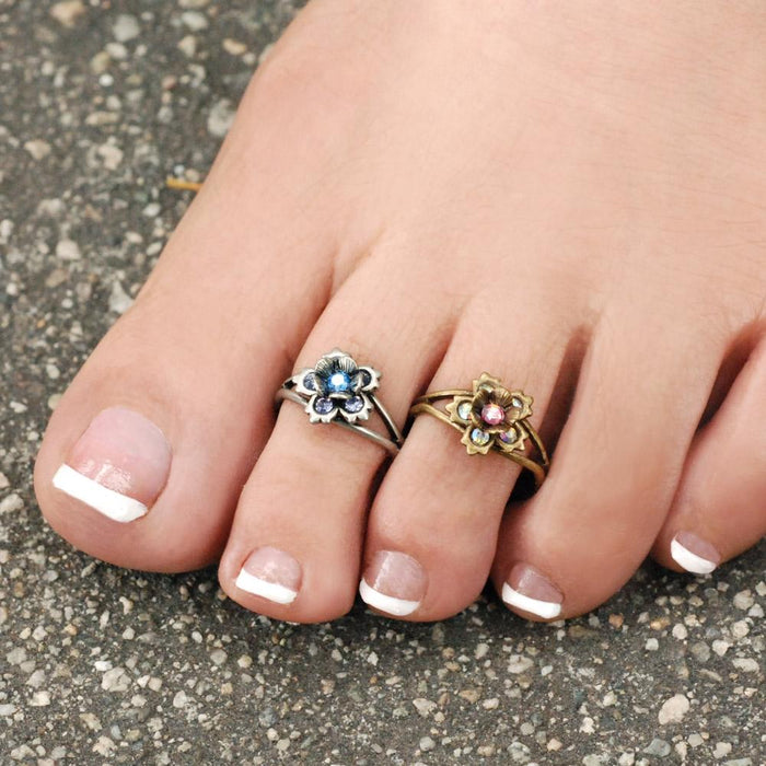 Summer Flower Toe Ring and Finger Ring TR102 - Sweet Romance Wholesale