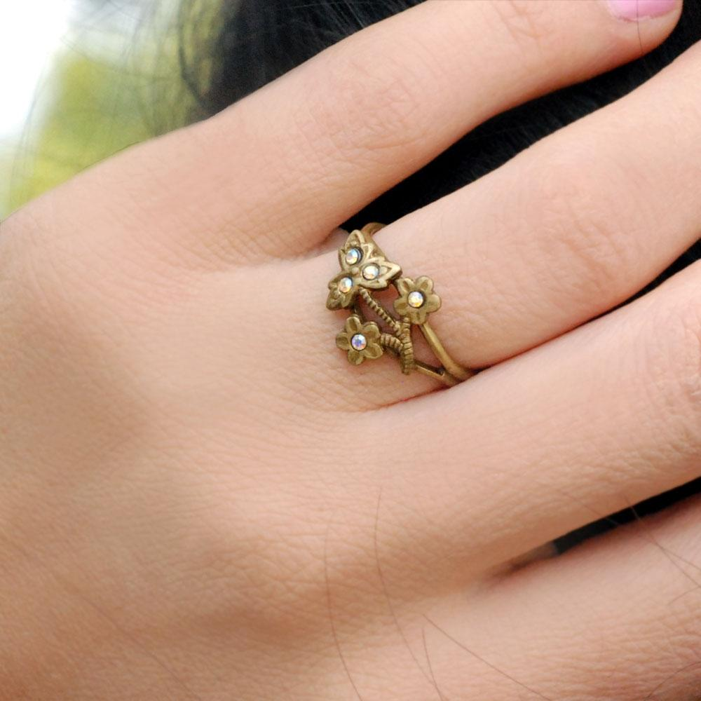 Victorian Flower Toe Ring - Sweet Romance Wholesale