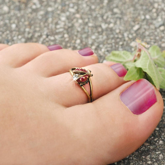 Ladybug Toe Ring - Sweet Romance Wholesale