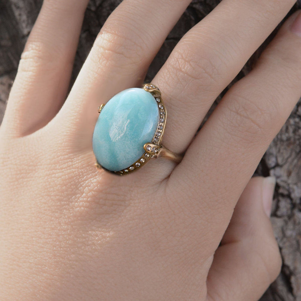 Amazonite Gemstone Ring R131 - Sweet Romance Wholesale