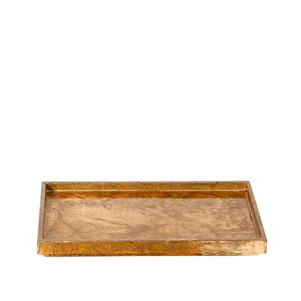 Luxe Leaf Rectangle Tray Small