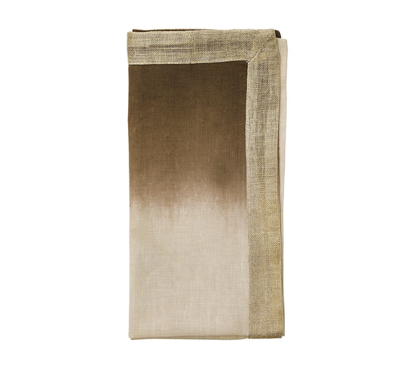Dip Dye Napkin in Natural Brown (Set of 4)