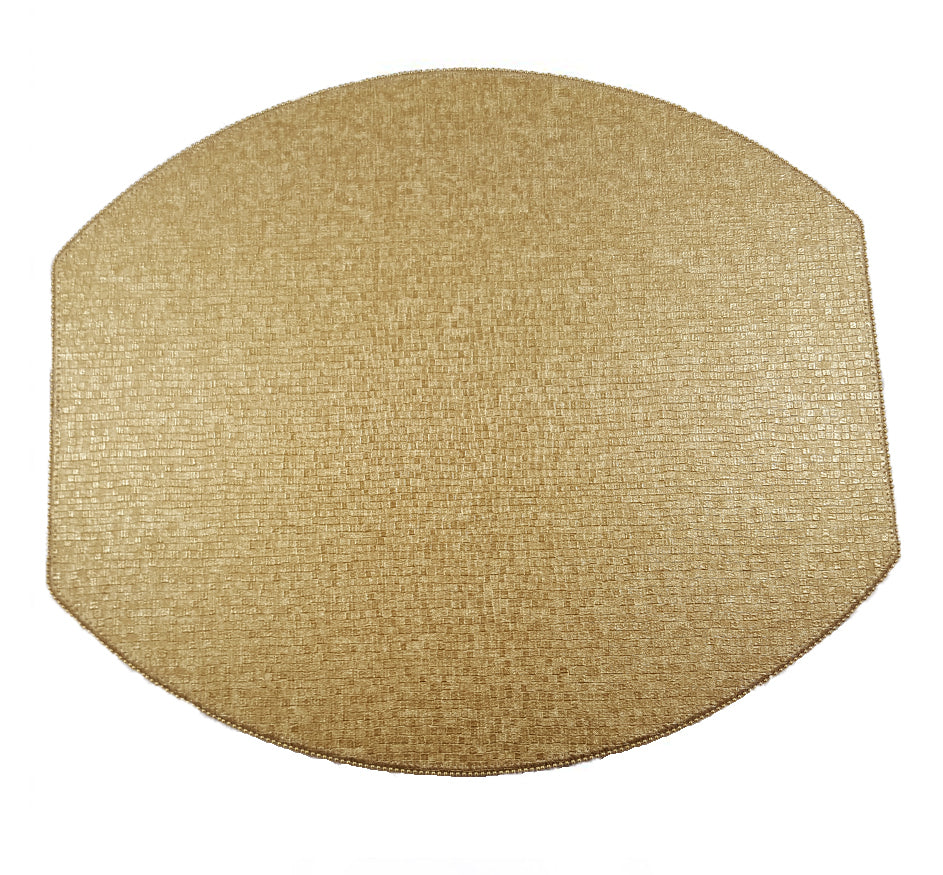 Metallic Gold Ellipse Placemat