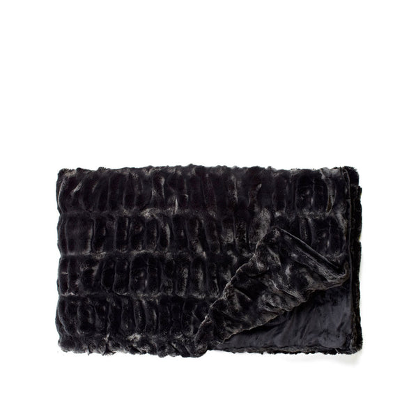 Couture Grand Throw in Onyx Mink