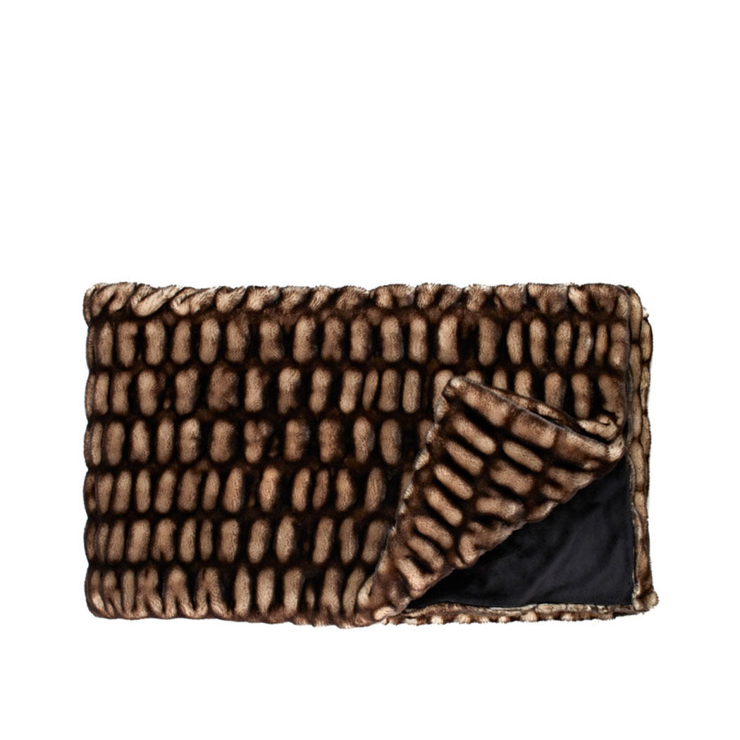 Couture Grand Throw in Shadow Mink