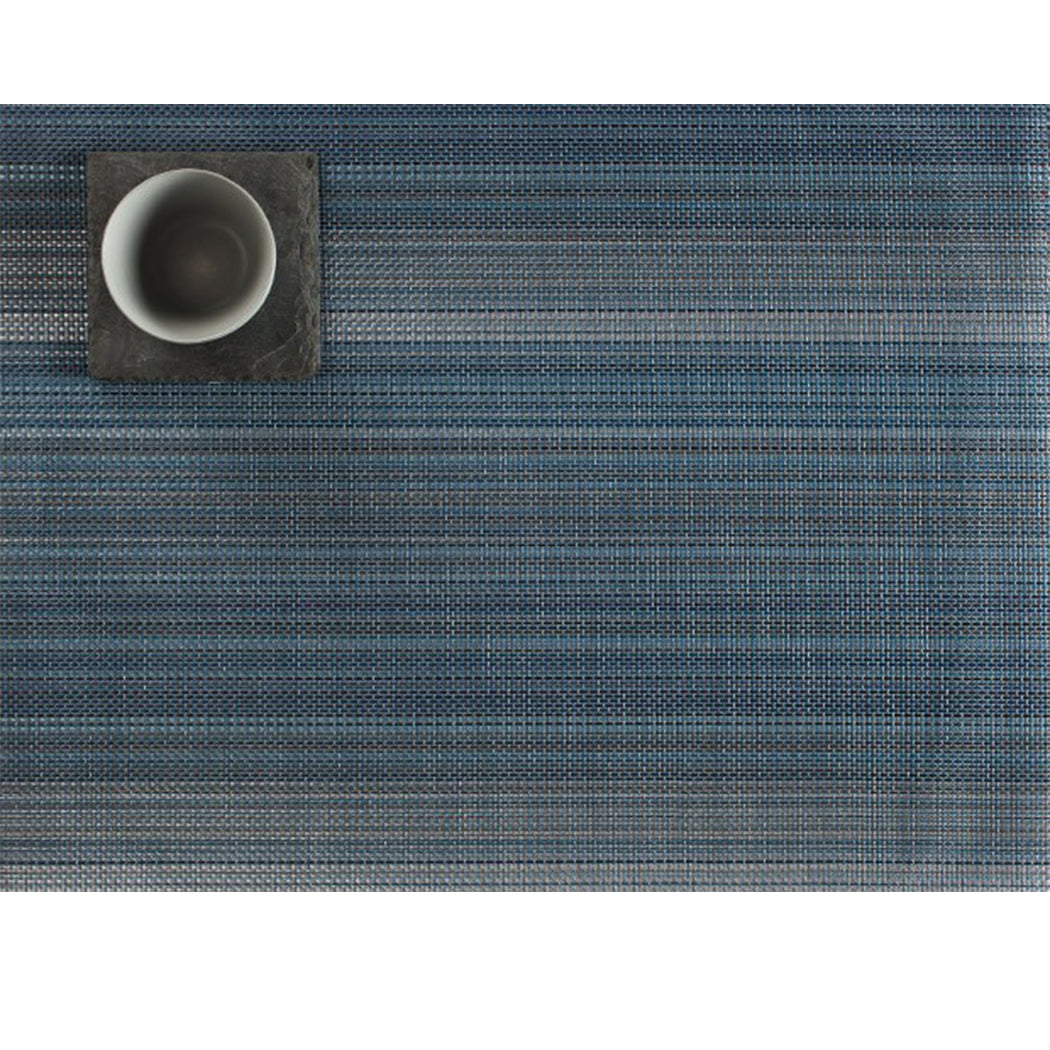 Multi-Stripe Mat in Chambray