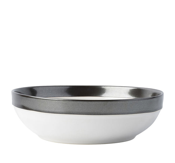 Emerson White/Pewter Coupe Bowl