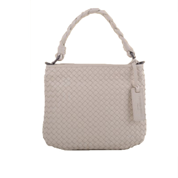Beige Flat Braided Strap Bag