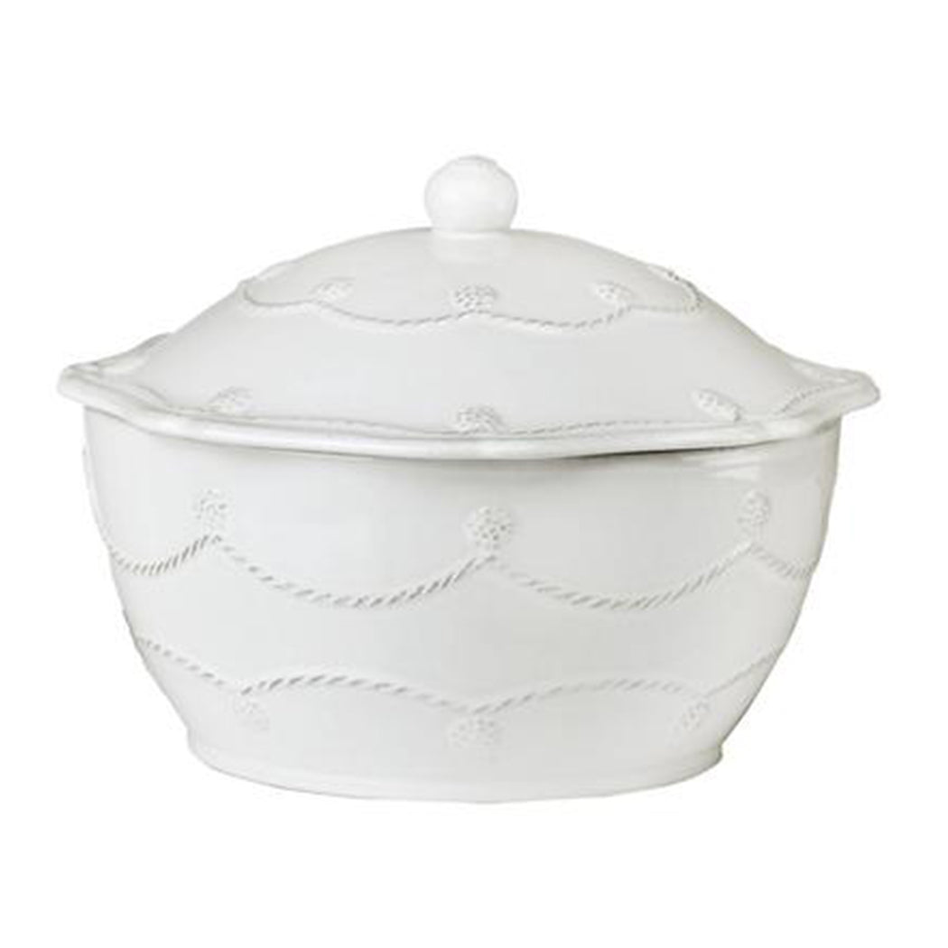 Berry & Thread Whitewash Small Covered Casserole