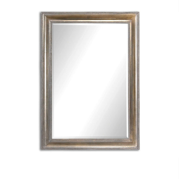 Thick Framed Antiqued Silver Mirror 25x35