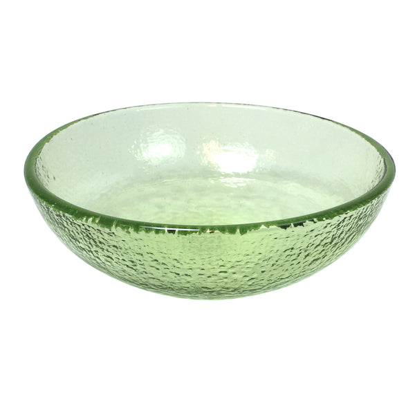 "Recycled Glass Olive 8"" Bowl"