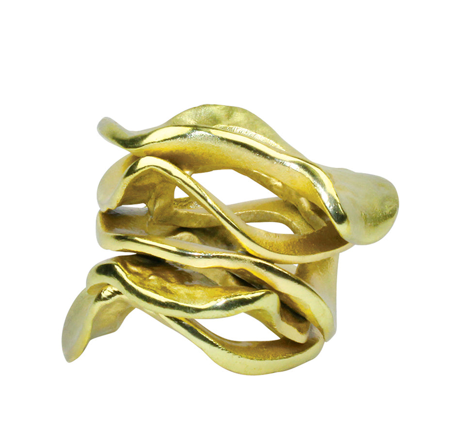 Flux Napkin Ring in Gold (Set of 4)