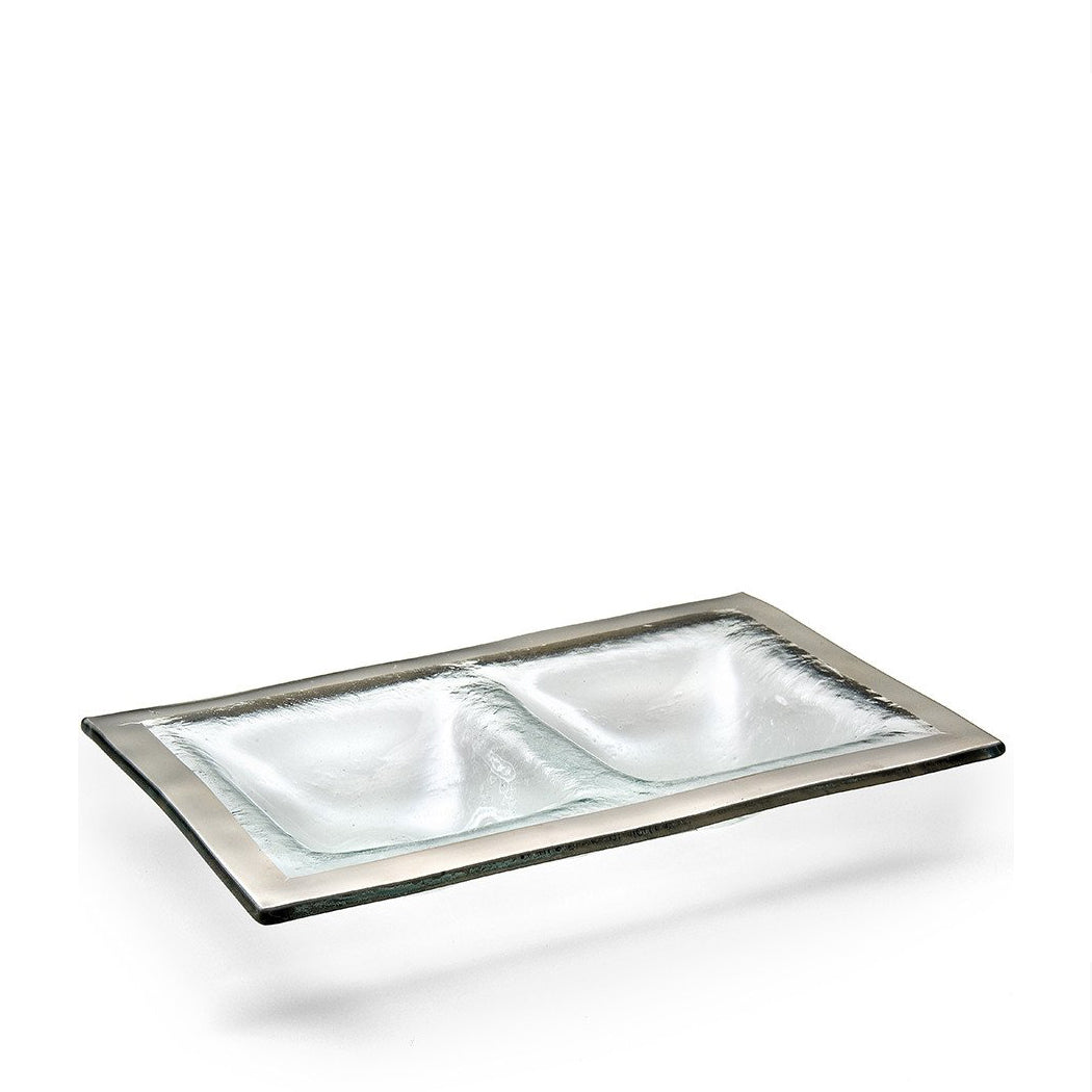 Two Section Tray in Platinum
