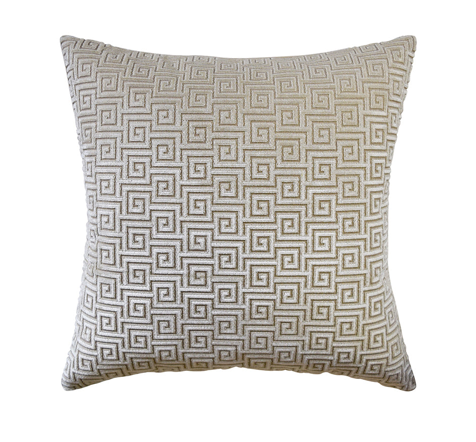 Meander Velvet Pillow in Natural