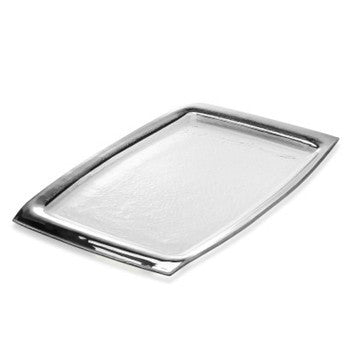 Roman Antique Platinum Rectangle Tray