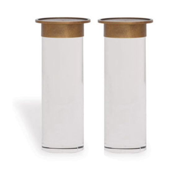Addison Candle Holders in Brass (Set of 2)