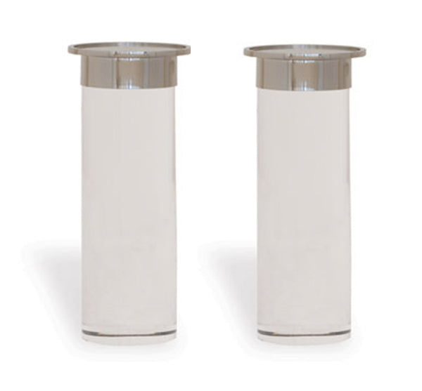 Addison Candle Holders in Nickel (Set of 2)
