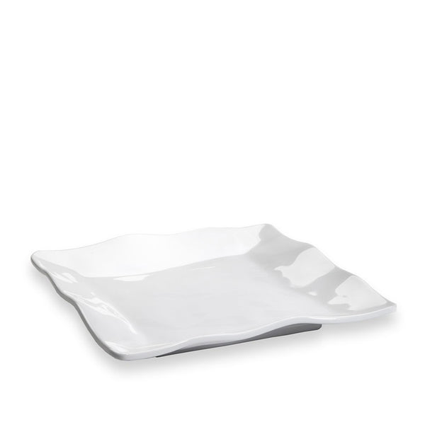Ruffle Square Salad Plate in White 7.5""