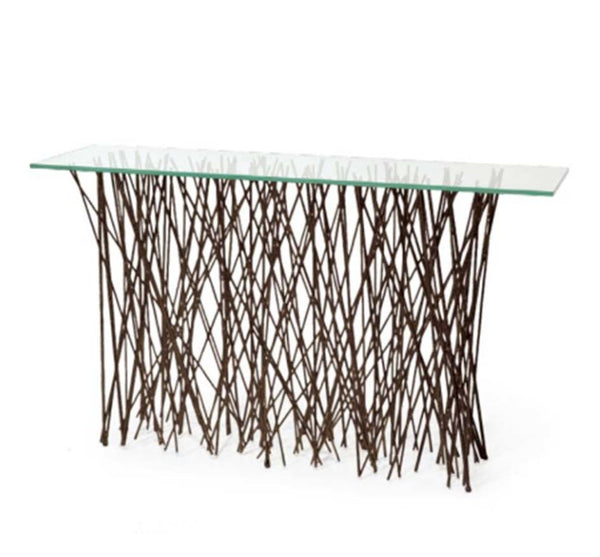 Metal Twig Console Table