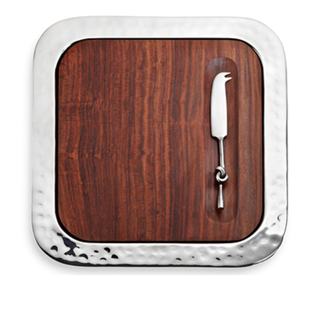 Sierra Rosewood Tray with Cheese Knife