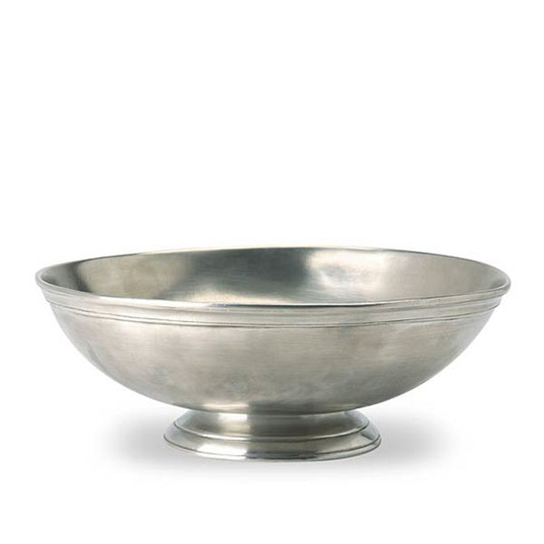 Round Footed Pewter Centerpiece