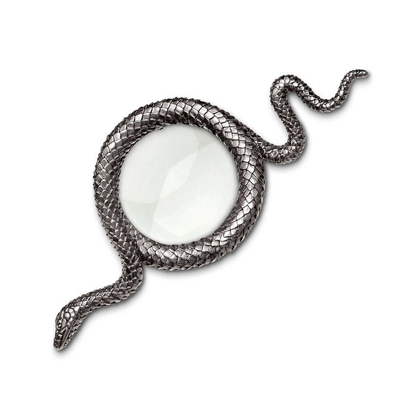 Snake Magnifying Glass Platinum in Large