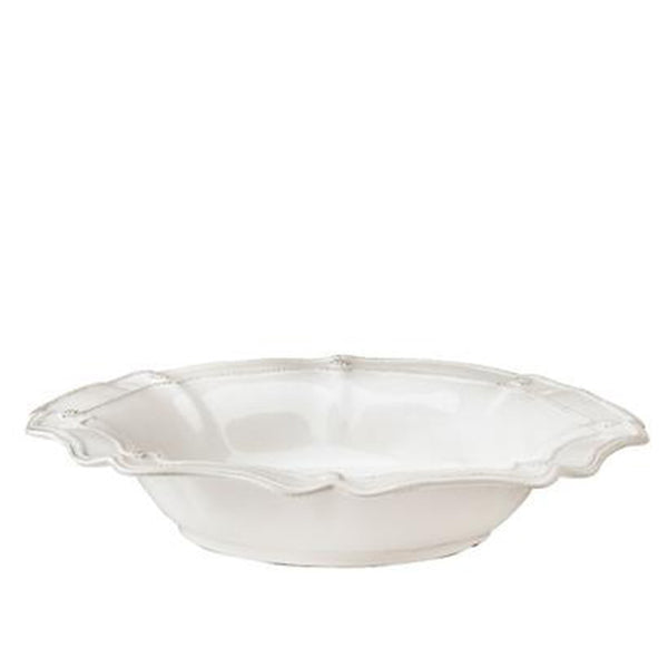 Berry & Thread Large Scalloped Serving Bowl in Whitewash