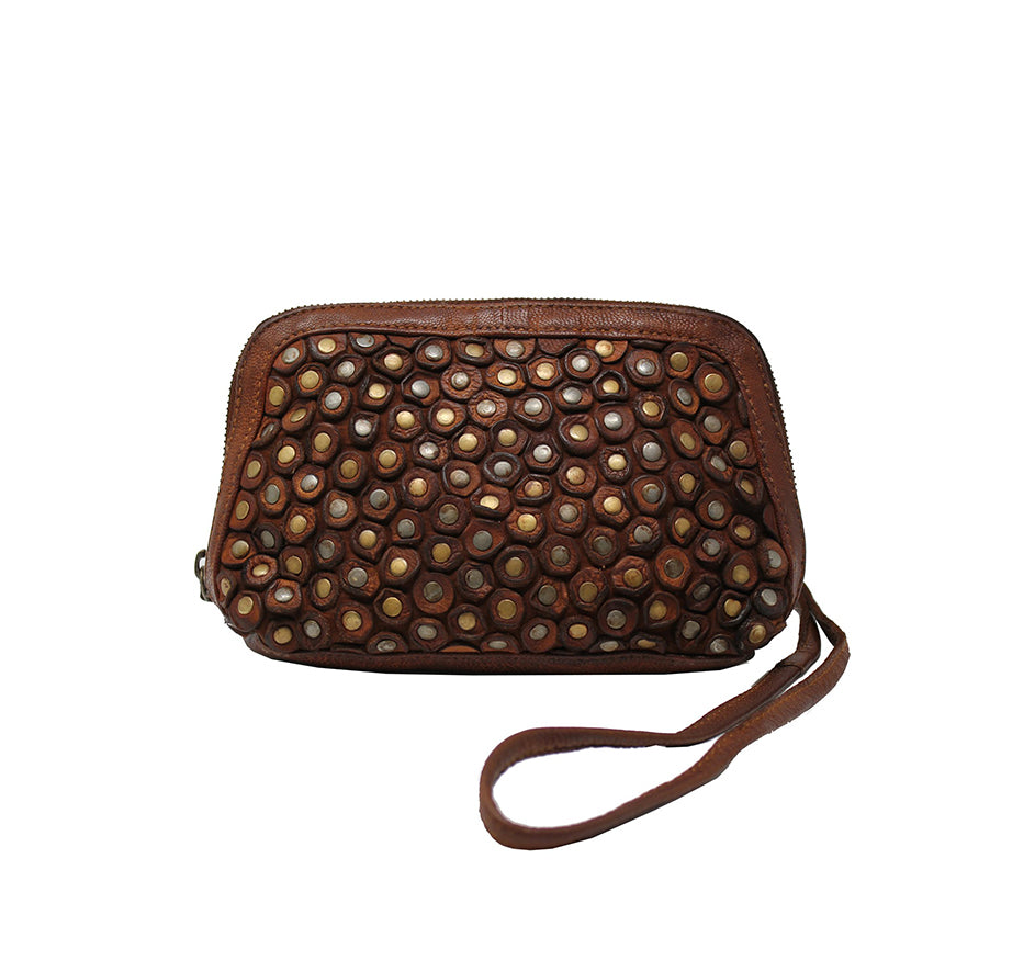 Studded Purse in Tan