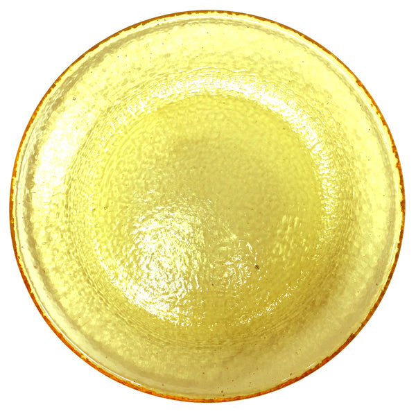 Recycled Glass Citrus Dinner Plate
