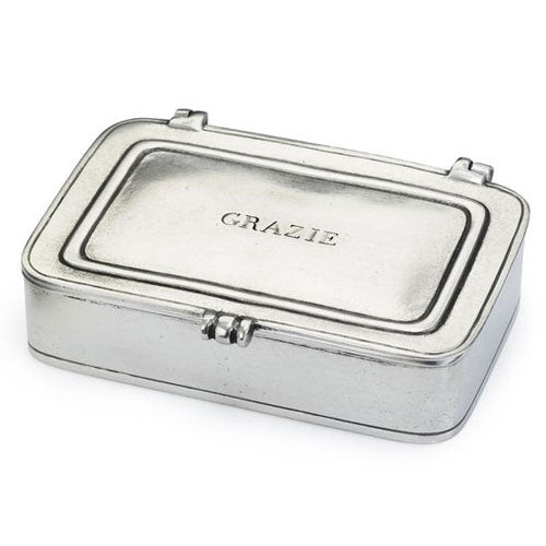 "Pewter ""Grazie"" Box"