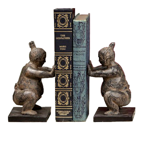 Sumo Wrestler Bookends