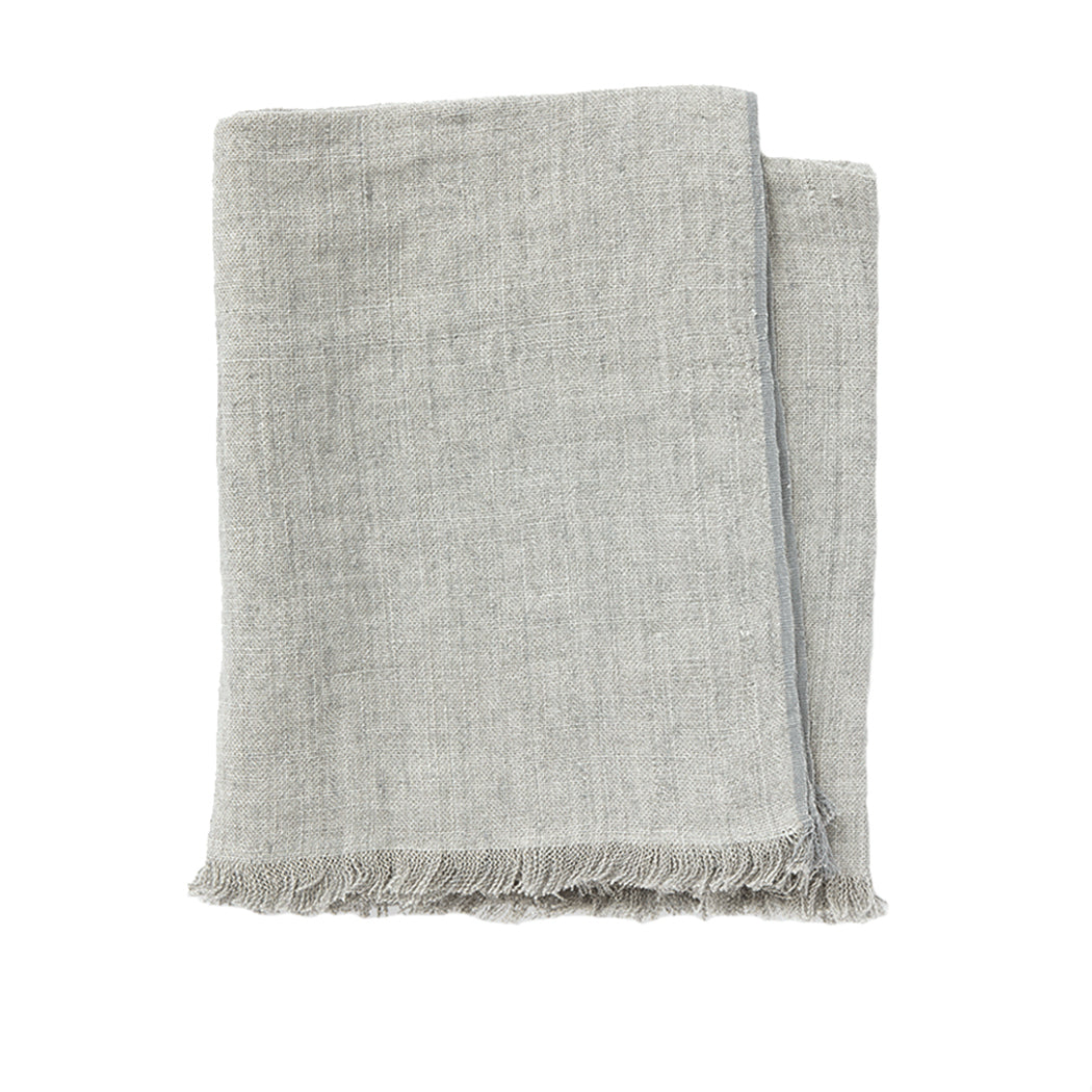 Linen Throw in Fog