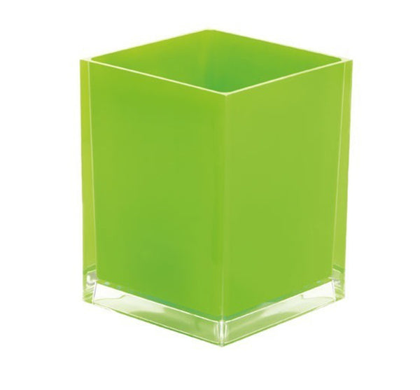 Rainbow Wastebasket in Green