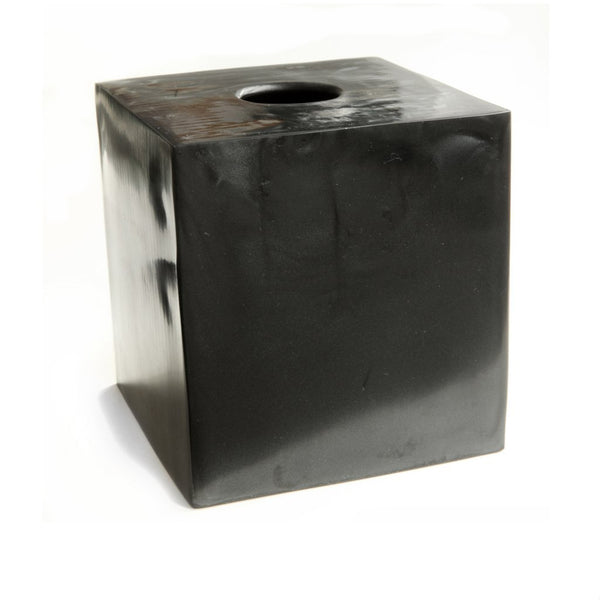 Resin Tissue Box in Ebony Pearl