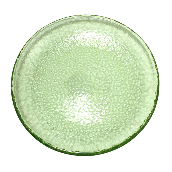 Recycled Glass Olive Dessert/Salad Plate