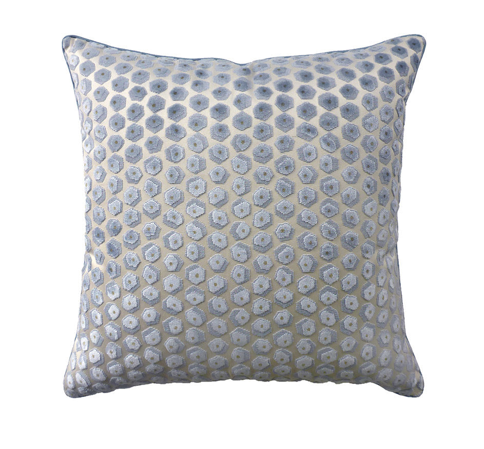 Gem Velvet Pillow in Aqua