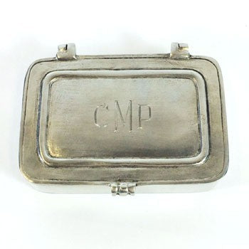 Monogrammed Pewter Box