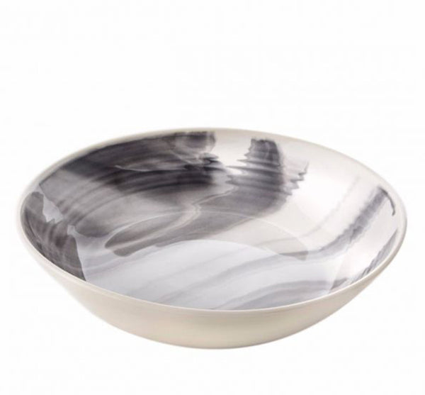 Grey Marble Large Serving Bowl