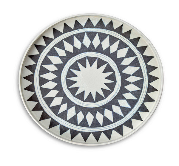 Medium Tribal Diamond Round Platter
