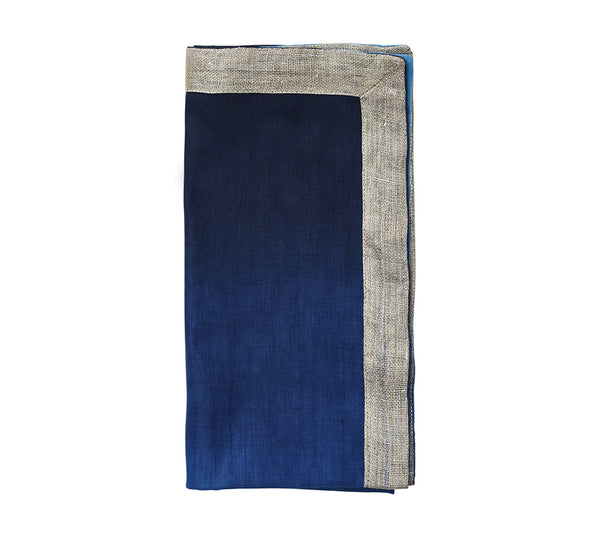 Dip Dye Napkin in Navy (Set of 4)