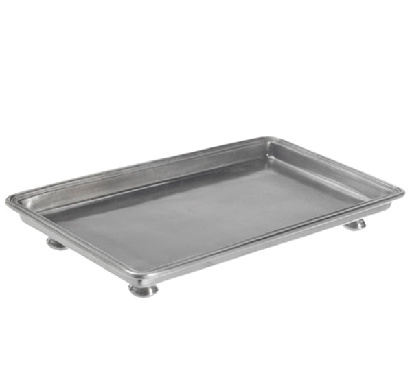 Small Pewter Footed Tray