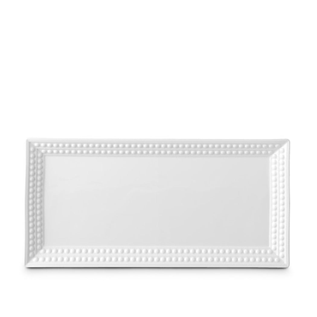 Perlee White Rectangle Platter