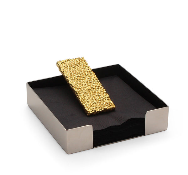 Molten Gold Cocktail Napkin Holder