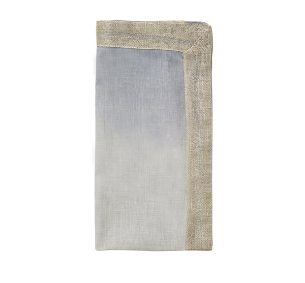 Dip Dye Napkin in Gray Silver (Set of 4)
