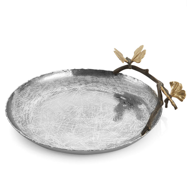 Butterfly Ginkgo Small Round Platter