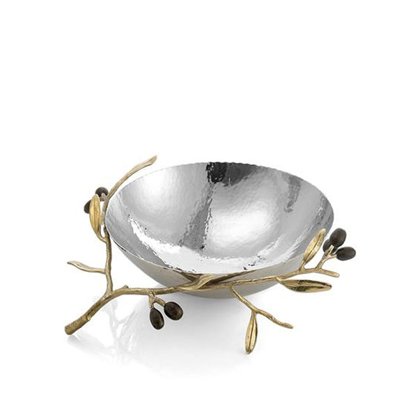 Olive Branch Gold Nut Bowl