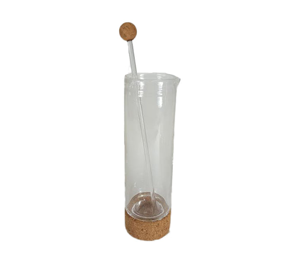 Cork  Martini Pitcher In Clear